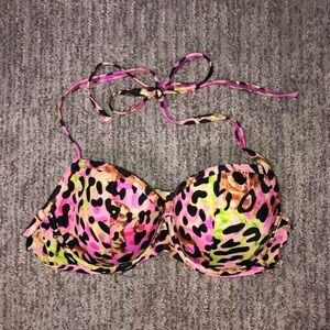 Victoria's Secret Swim Leopard Bikini Halter Top